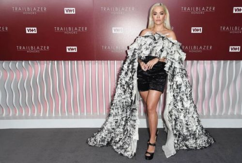Rita Ora Just Rocked the Most Intense Cape Romper We've Ever Seen
