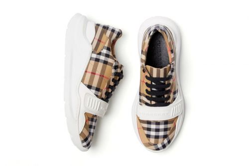 "Burberry Releases the ""Vintage Check"" Cotton Sneaker in White"