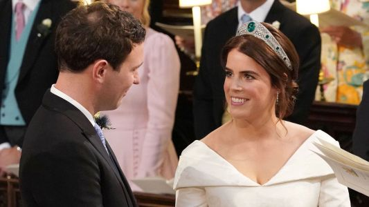 Kiss the Bride! See How Eugenie and Jack's First Married Smooch Compares to Harry and Meghan's