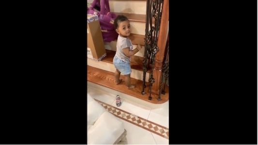 Cardi B's Daughter Kulture Lives Her Best Life in Adorable Video While Climbing Stairs - Watch!