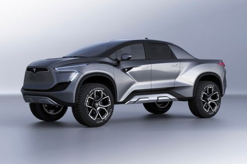 This Concept of Tesla's Pickup Truck Teases What the EV Could Look Like