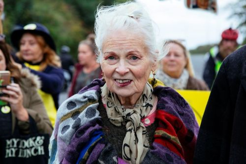 Vivienne Westwood danced to protest fracking today