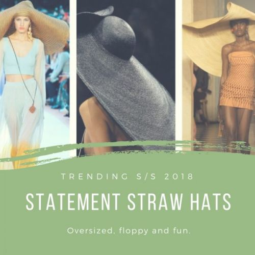 Trending S/S 2018: Statement Straw Hats