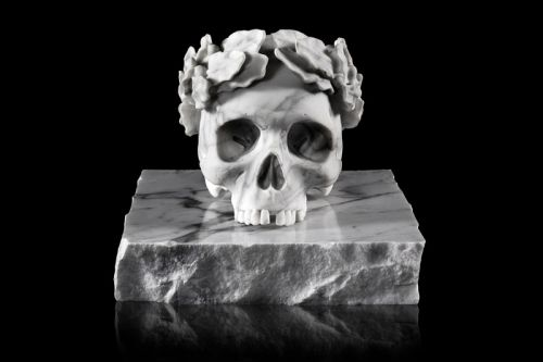 Jun Cha to Release Limited Edition 'CAPO' Marble Skull Sculpture