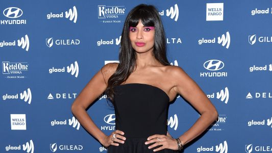 Jameela Jamil Proudly Loves 'Every Inch' of Her Body in Cellulite-Baring Photo