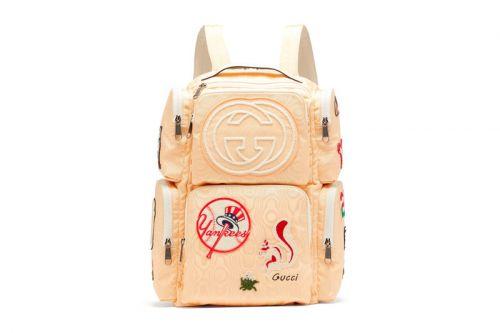 Gucci Unveils a Moiré Canvas Backpack Littered With Decorative Patches
