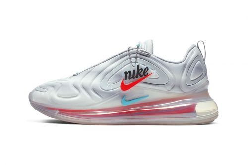 "Nike Air Max 720 ""Wolf Grey"" Livens Up With Colorful Gradient Logo"