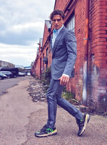 Oliver Cheshire Dons Bold Numbers for L'Officiel Hommes Ukraine