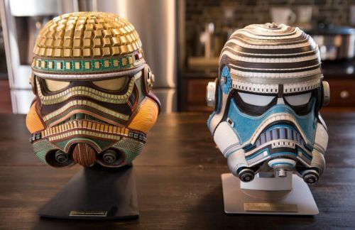 Meet the bloke upcycling Louis Vuitton bags into incredible Star Wars Helmets