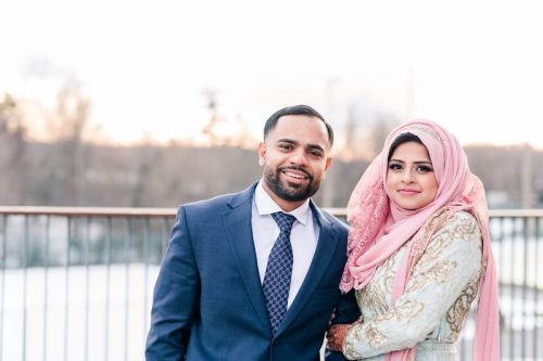 Fawzia + Abbas Winter Engagement Ceremony by Azra Photography
