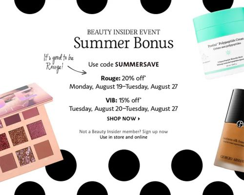 Sephora Summer Bonus Event for Rouges & VIBs | 2019 - Stars Tomorrow for Rouges!