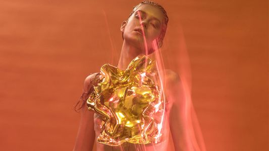 The designer making clothes for an empowered cyber goddess