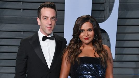 """Friends Are Urging B.J. Novak to Propose to His """"Soup Snake"""" Mindy Kaling"""