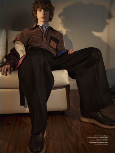 Efraim Schröder Models Vintage-Inspired Style for L'Officiel Hommes Italia