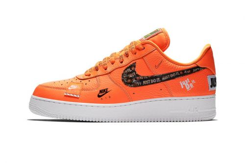 "Official Photos of Nike Air Force 1 ""Just Do It"" in Orange"