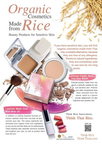 Thai Rice Brings Organic Cosmetics to Beauty Industry