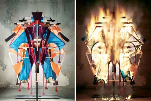 Craig Green sets his designs alight for new campaign