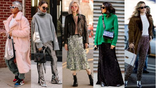 The Street Style Crowd Sparkled in Sequins on Day 6 of New York Fashion Week