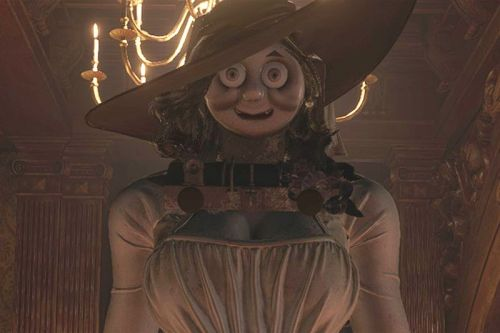 'Resident Evil Village' Modder Replaced Lady Dimitrescu's Face With Thomas the Tank Engine