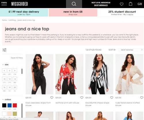 Missguided solves all our problems by launching a 'jeans and nice top' category