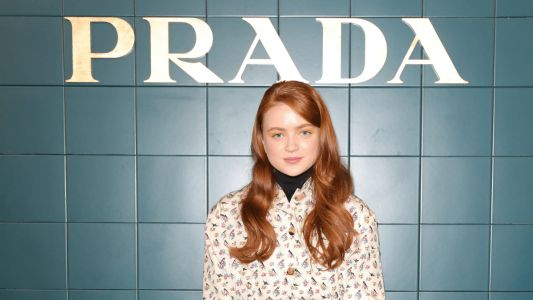 Sadie Sink Looks Adorably Chic in Prada at the Brand's Spring 2020 Show