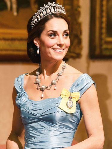 Kate Middleton Just Wore Princess Diana's Tiara With a Cinderella Gown