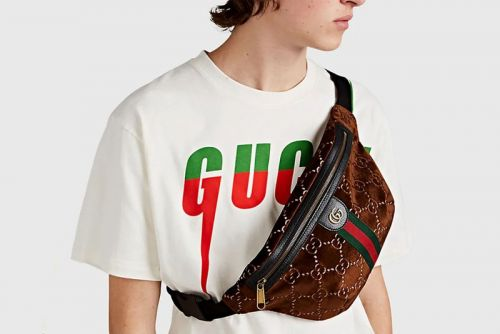 Gucci Gears Up for Fall With Brown Velvet GG-Pattern Belt Bag