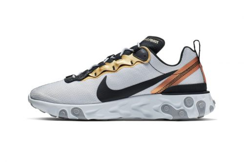 "Nike's React Element 55 Gets Deck out in ""Metallic Gold"" Accents"