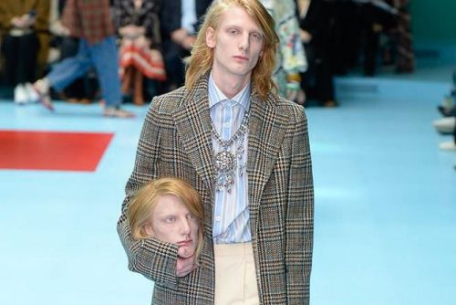 Gucci's Fall/Winter 2018 Show Featured Severed Heads, NY Yankees & a Dragon