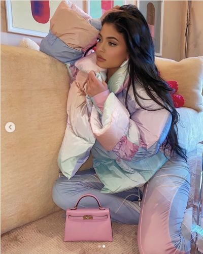 Style Queen Kylie Jenner's Pastel Saks Potts Puffer Jacket Is a Winter Fashion Dream