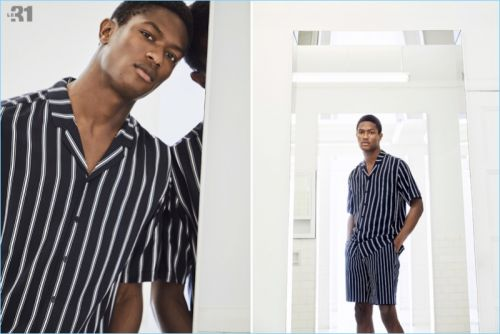Clean Stripes: Hamid Onifade Models Fresh Styles from Simons