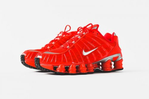 "The 2003 Nike Shox TL Returns in ""Speed Red/Metallic Silver"""