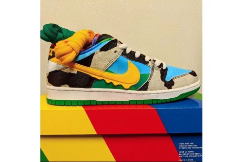 Images of a Ben & Jerry's x Nike SB Dunk Low Surface