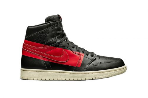 """Air Jordan 1 """"Couture"""" Flexes Big Red Stripes for an Abstract Look"""