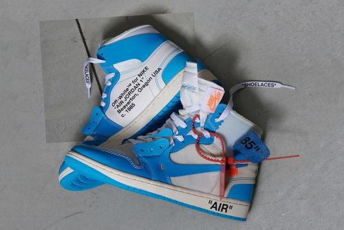"Here Are the Confirmed Air Jordan 1 Retro High Off-White ""Powder Blue"" Launch Details"