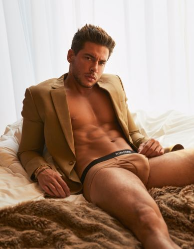 Andrea Strips Down for L'Officiel Hommes Italia Kinky Issue