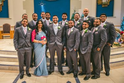 Elizabeth + Jais Nativity Catholic Church & Hilton Tampa Wedding