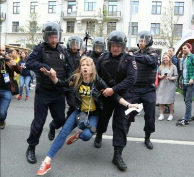Teen girls among hundreds arrested in Russia protests