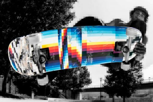 Felipe Pantone Creates a Series of Limited-Edition Skate Deck Designs
