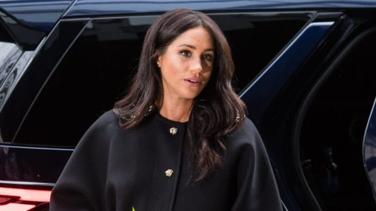 Meghan Markle Wore a Thing: Vintage Black Coat Edition