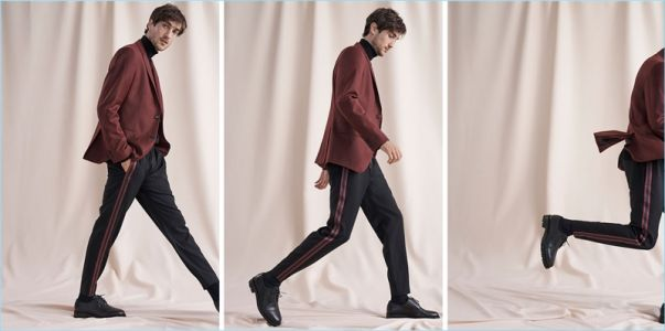 Cool Down, Warm Up: Hamilton Seguin Models New Club Monaco Arrivals