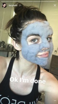 Watch Lucy Hale's Hilarious Bubble Mask Experience