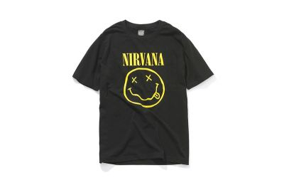 NUMBER INE x Nirvana Pocket Tee Features Cobain's Smiley Face