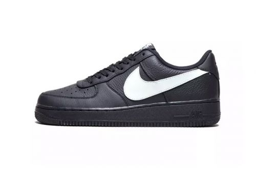 Nike's Oversized Swoosh Looks Even Bigger on Air Force 1 Black Colorway