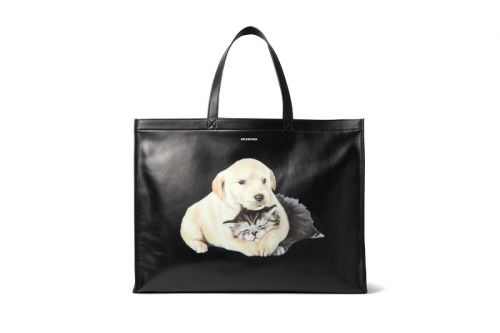 Balenciaga Gets Cute With a Puppy & Kitten-Printed Tote Bag