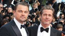 Brad Pitt And Leonardo DiCaprio Hug It Out In Twinning Tuxes At Cannes