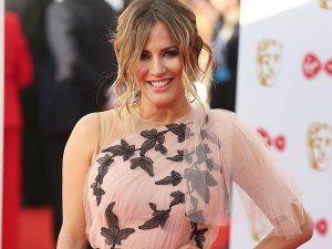 Caroline Flack Looked Pretty In Pink As She Collected The BAFTA For Love Island