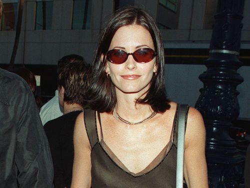 Courteney Cox and Her Daughter Look Like Twins in Her '90s Red Carpet Dress