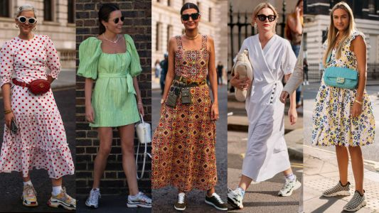 Showgoers Wore Sneakers With Their Dresses Over the Weekend at London Fashion Week