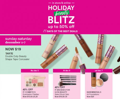 Ulta Holiday Beauty Blitz 2019 | 25 Days of Deals!